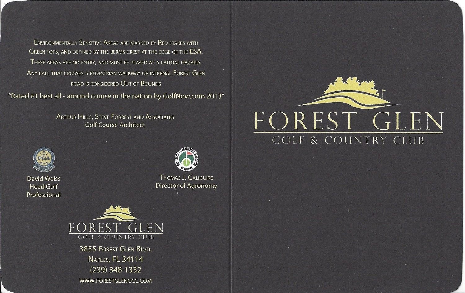 Forest Glen Score Card Front