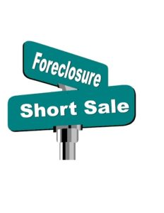 Short Sale for Buyers / Foreclosure Street Sign