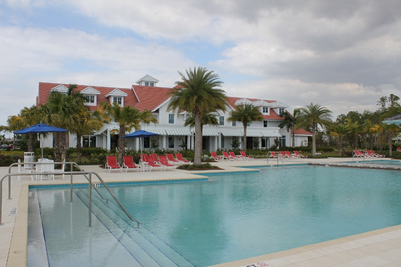 The Isles of Collier Preserve Pool and Clubhouse