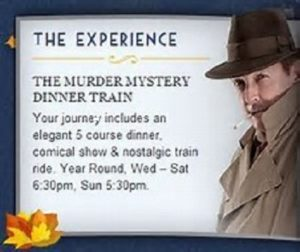 Culture in Naples the Murder Mystery Dinner Train