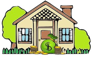 Save our Homes Cartoon House With Money Savings