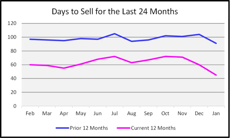 February Naples Market Report Days to Sell Graph