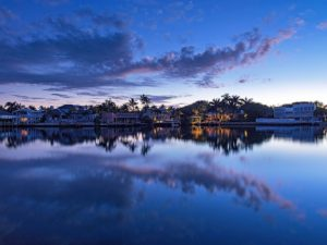 View of Aqualane Shores from the Bay, Naples FL