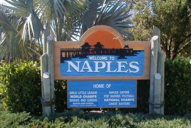 Olde Naples Welcome Sign