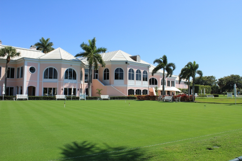 View of Audubon Croquet Courts and Club House