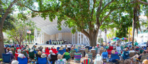 Culture in Naples, the Cambier Park Band Shell
