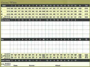Wyndemire Score Card - Green / White